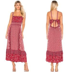 Free People Yessica Maxi Dress in Red Combo